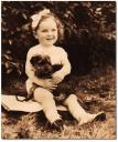 Rita with one of her earliest pets